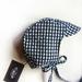 Blue Gingham Organic Cotton Bonnet/Helmet