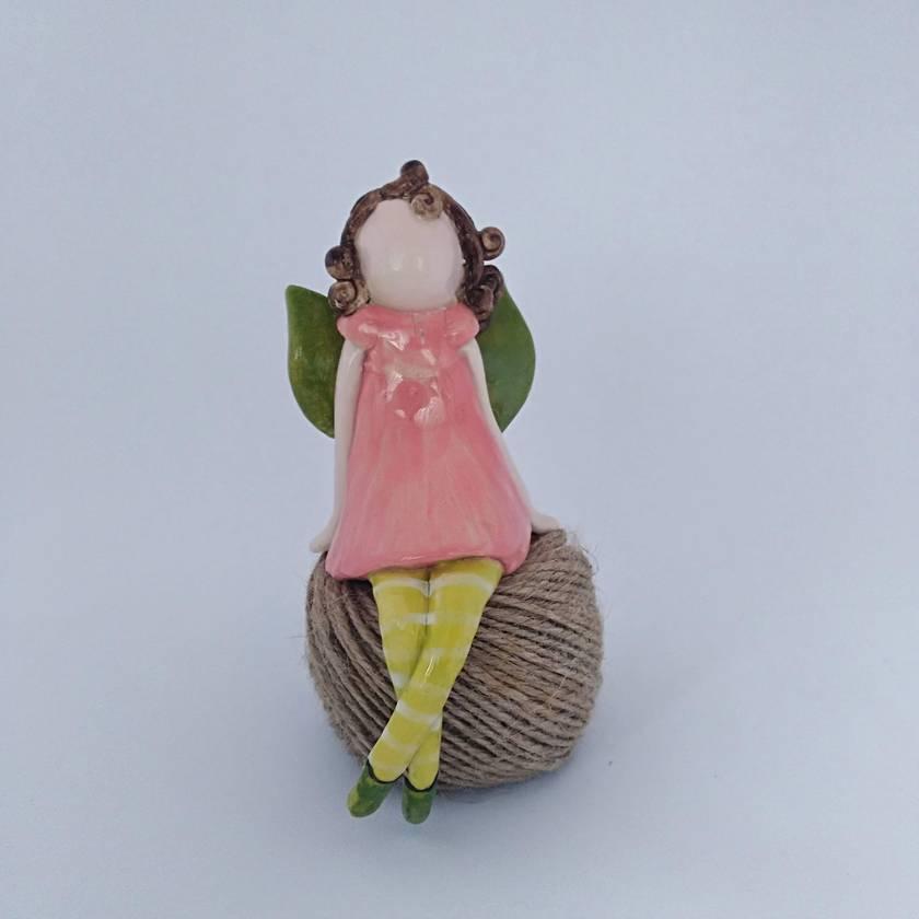 Ceramic Fairy Figurine - Pretty in Pink