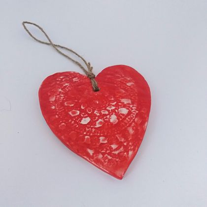 Vibrant Red Heart Decoration