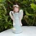Porcelain Angel Figurine - Light blue dress