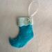 Felt Christmas Decoration - Blue stocking