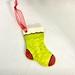 Ceramic Christmas Stocking- Green