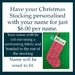 Personalise your Stocking - add your name
