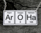 ArOHa... periodic table element  necklace