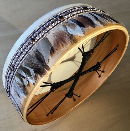 Shamanic ceremonial style frame drum