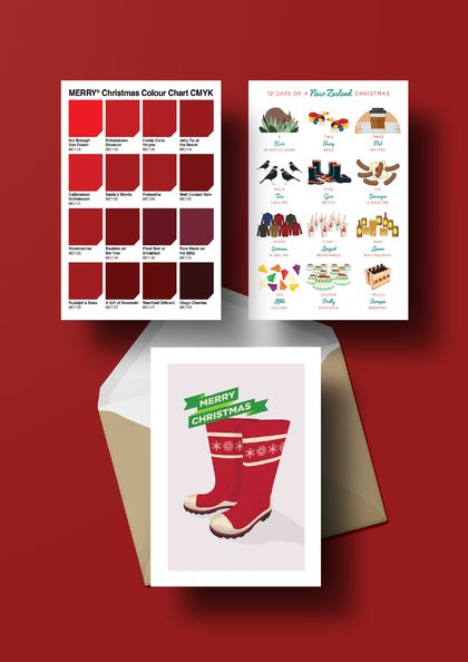 KIWI CHRISTMAS CARD SET