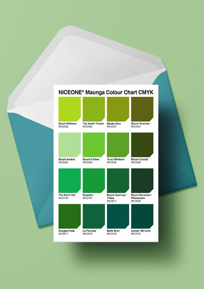 PERSONALISED CARD: THE COLOUR OF MAUNGA