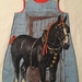 Girl's Horse Reversible Pinny - Size 5 - 6