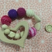 Organic,Wooden, Natural Teether Rattle