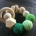 Organic,Wooden, Natural Teether Rattle Plain