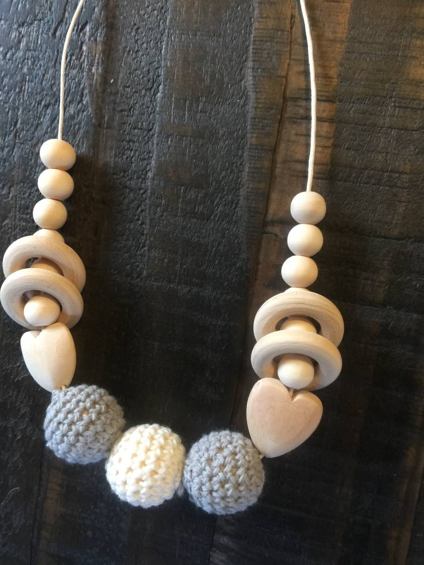 Organic,Wooden, Natural Mummy Teething Necklaces