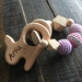 Personalized, Engraved, Organic,Wooden, Natural Teether Rattle