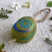 "Felted Soap on a Rope - Eco Shower & Shampoo Bar ""Koru"" with Ylangylang essential oil"