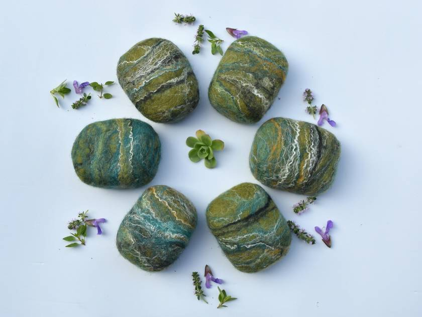 """Felted Soap """"Garden Hands"""" - NEW ! with Olive Oil Soap"""