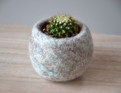 Wooly Cactus Home -Felt Bowl