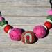 Wool Felt Ball Necklace
