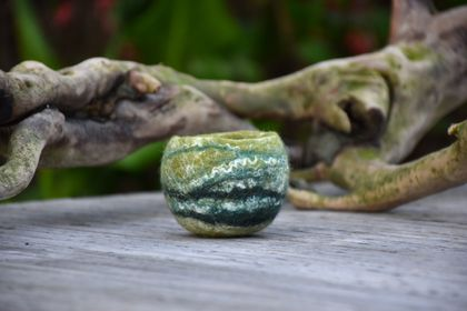 Woolly green felted Bowl