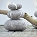 Felted Wool balancing Stones - Set of 3
