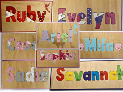 Made to order name puzzle up to 7 letters