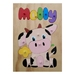 Made to order personalised name puzzle Cow