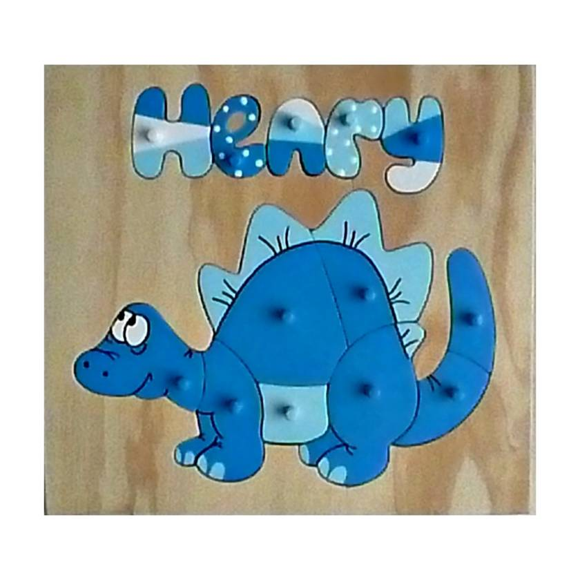 Made to order personalised name puzzle,  Dinosaur