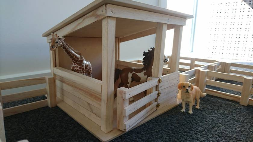 Wooden Toy Stable With Fences