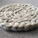 Chunky knit pet bed