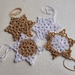 Hand crocheted snowflakes