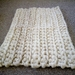 Chunky knit cosy rug