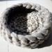 Chunky knit cat basket
