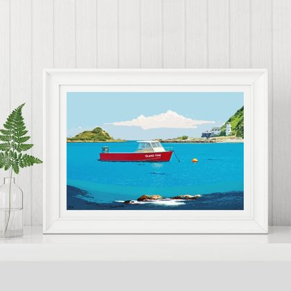 Island Bay Art Print, Wellington
