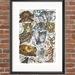 """Safari"" Montage - A3 Fine Art Print"