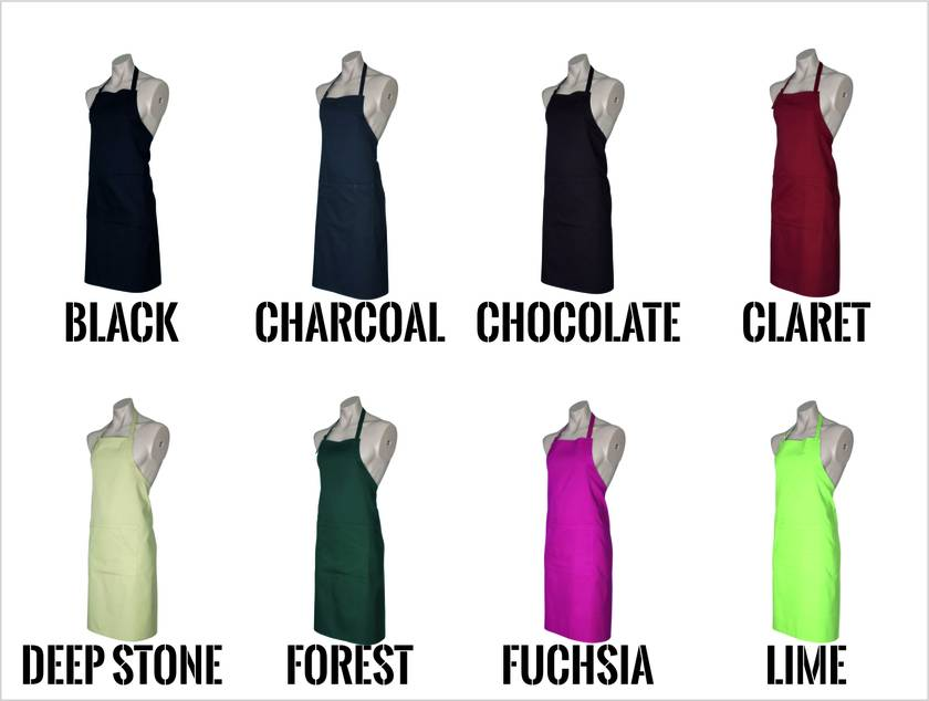 Named - Master Chef Apron - Available In 14 Colours - Custom Printed/Custom Made - By Tiny Tim.