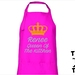 Named - Queen Of The Kitchen Apron - Available In 14 Colours - Custom Printed.