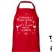 I'm Dreaming Of A White Christmas But If The White Runs Out, I'll Drink Red! Apron - Available In 14 Colours - Custom Printed.