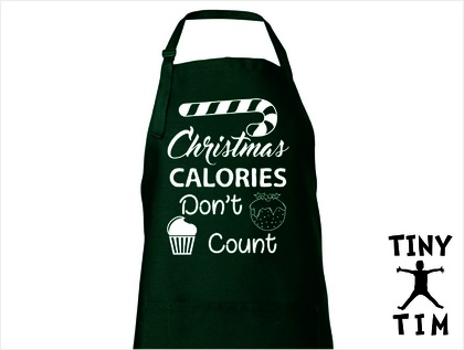 Christmas Calories Don't Count Apron - Available In 14 Colours - Custom Printed.