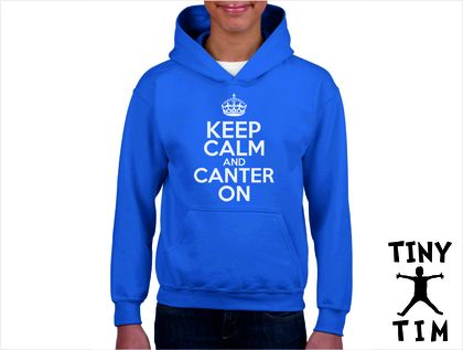 Named - Keep Calm And Canter On - Youth Hoodie - Custom Printed Hoodie.