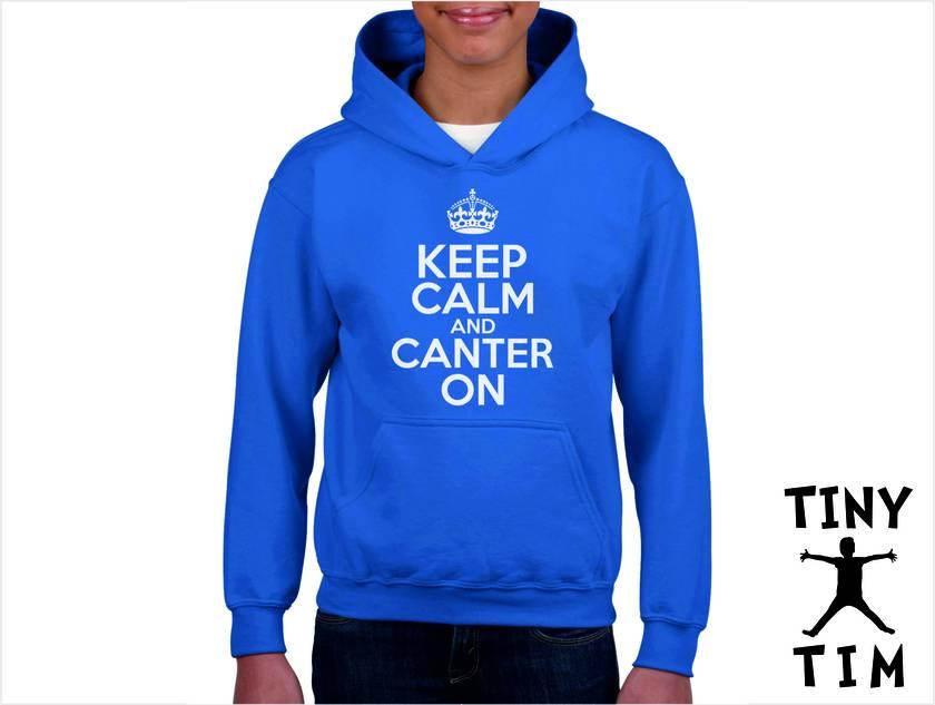 Named - Keep Calm And Canter On - Youth Hoodie - Custom Printed Hoodie