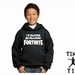 """Named """"I'D Rather Be Playing Fortnite"""" Gaming Youth Hoodie - Custom Printed - Comes In 6 Colours."""