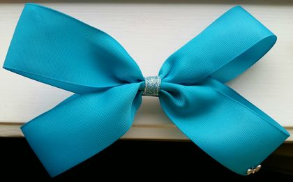 Turquoise hair bow
