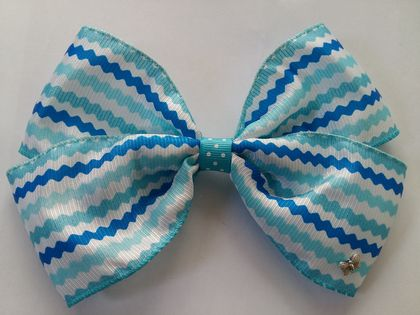 Large blue & white MIZI Bow