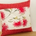 Cream Pohutukawa Cushion Cover with Red Boarder