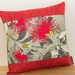 2 Grey Pohutukawa Cushion Cover with Red Boarder NZ MADE