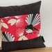 Pīwakawaka - Fantail Red Cushion Cover with Black Boarder NZ MADE