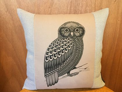 Morepork Cushion Cover NZ MADE