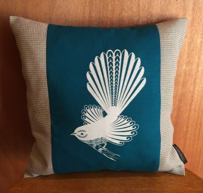 Pīwakawaka - Fantail Cushion Cover NZ MADE