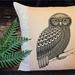 Morepork Cushion Cover NZ MADE