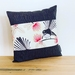 Pīwakawaka - Fantail Cream Cushion Cover with Black Boarder NZ MADE