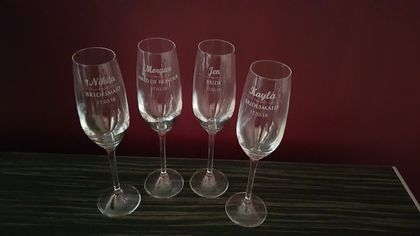 Personalised Bridesmaid Champagne Flutes
