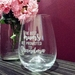 Engraved Best mum to Grandma Glass